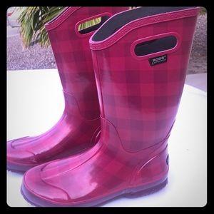 BOGS Rain Boots Plaid